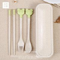 韩版儿童便携餐具三件套 日式学生可爱叉子勺子筷子套装
