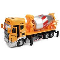 声光回力混凝土工程车男孩玩具车模儿童大号工程搅拌车合金模型