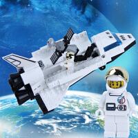 启蒙 航天飞机拼装积木模型 塑料颗粒拼插立体儿童益智组装玩具
