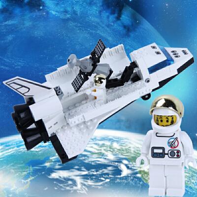 启蒙 航天飞机拼装积木模型 塑料颗粒拼插立体儿童益智组装玩具益智玩具限时钜惠