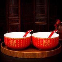 婚庆敬茶杯陶瓷碗喜碗喜杯喜筷套装结婚礼物碗筷婚礼用品