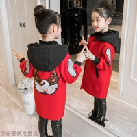 冬季女童呢子大衣春秋新款韩版公主中长款中大童冬装儿童毛呢外套秋冬新款