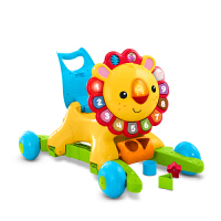 宝宝学步车可坐手推车4合1多功能学步车摇摇小狮子手推车DLW65宝宝婴儿可坐防侧翻 DLW65