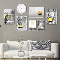 简约现代创意组合挂墙 客厅照片墙装饰实木相框墙 欧式相片墙