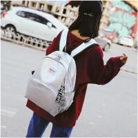 书包女 韩版简约高中学生 初中生软皮校园电脑包小清新背包双肩包