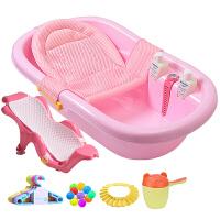 宝宝浴盆婴儿洗澡盆可坐躺通用大号加厚儿童沐浴桶婴儿新生儿用品O