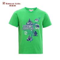 【跨店每满200减100】探路者童装夏季短T男童针织圆领短袖T恤