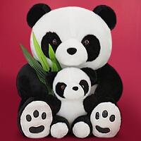 熊猫公仔毛绒玩具黑白布偶娃娃抱枕可爱抱抱熊女生生日礼物送女友