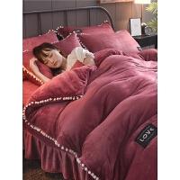 四件套珊瑚绒冬季1.8m1.5床单被套双面床上