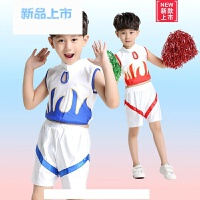 新款六一儿童演出服女童啦啦操体操服男童啦啦表演服幼儿演出服装