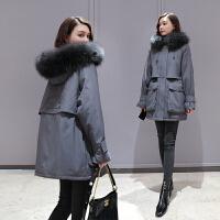 孕妇装羽绒棉服秋冬季新款韩版宽松中长款加厚棉袄女时尚外套棉衣