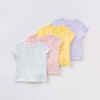 davebella戴维贝拉2018夏装新款T恤 女童短袖休闲T恤4色 DB7018