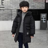 男童棉衣2018新款冬装外套儿童中大童羽绒中长款加厚棉袄上衣