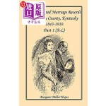 【中商海外直订】Kentucky Reconstructed Marriage Records of Owsley C