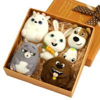 羊毛毡戳戳乐手工diy制作生日礼物创意礼品材料包送工具