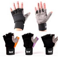 健身房器械训练哑铃举重健身手套 男士女士半指运动手套