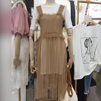 201早春新品韩系青春减龄优雅两件套(T恤+连衣裙)3