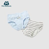 【3折价:24】迷你巴拉巴拉夏新品男童内裤两条装儿童小童轻薄透气三角裤