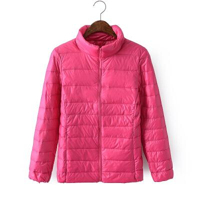 不买后悔韩版修身拉链轻薄立领羽绒服保暖小外套可收纳袋有大码 发货周期:一般在付款后2-90天左右发货,具体发货时间请以与客服协商的时间为准