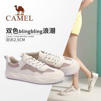 Camel/骆驼2019秋季新款 平底舒适个性潮流百搭小白鞋板鞋女