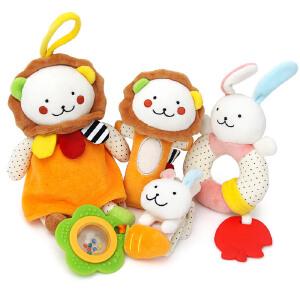 橙爱 奇趣森林摇铃套装婴幼儿手摇铃BIBI棒新生儿玩具