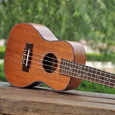 实木面单初学者尤克里里小吉他乌克丽丽23寸桃花芯单板尤克里里