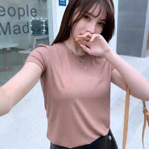 【多款可选】短袖t恤女夏装2019新款韩版宽松百搭衣服复古ins半袖韩范体恤上衣