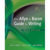 【预订】The Allyn & Bacon Guide to Writing: Brief