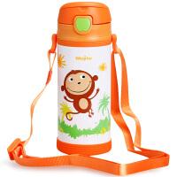 MOJITO保温杯儿童吸管杯不锈钢宝宝学饮杯婴儿水杯便携带吸管水壶