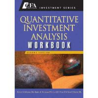 【预订】Quantitative Investment Analysis, Second Edition