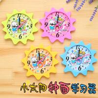 创意小太阳钟点学习器可拆 小学一年级数学习时间认识时钟学具