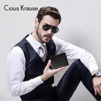 【1件3折,到手价:116.4元】Clous KrauseCK钱包钱包男新品短款商务时尚竖款钱夹节日礼物钱包零钱包