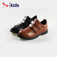 红蜻蜓童鞋男童中大童牛皮材质经典款皮鞋休闲鞋