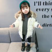 女童冬装棉衣2018新款韩版1-3岁女宝宝洋气时髦4儿童装加厚潮