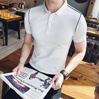 夏季修身短袖T恤 英伦绅士翻领韩版休闲简约日系潮流男士POLO衫