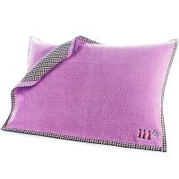 三利 纯棉A面纱布B面毛圈枕巾2条装 52×75cm 布艺包边正反两用枕头毛巾一对