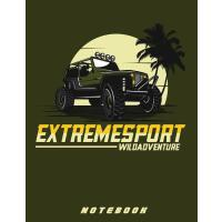 "【预订】Jeep Extreme Sport 8.5"" x 11"" Notebook: Blank lined Not"
