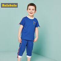 巴拉巴拉童装男童短袖套装小童宝宝儿童夏装2018新款运动衣服裤子套装