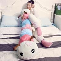 毛毛虫抱枕可爱毛绒玩具长抱枕睡觉抱枕公仔布娃娃情侣生日礼物