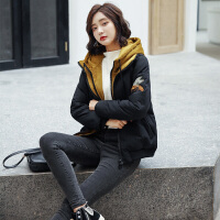 短款棉衣女2018冬季韩版加厚羽绒外套显瘦连帽小个子棉袄