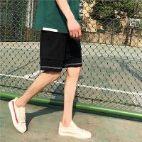 夏季短裤男个性潮流黑色五分裤韩国宽松直筒休闲大码中裤