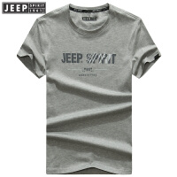 JEEP SPIRIT吉普 2018年夏季新品男士宽松休闲男士短袖T恤圆领体恤上衣11830904007