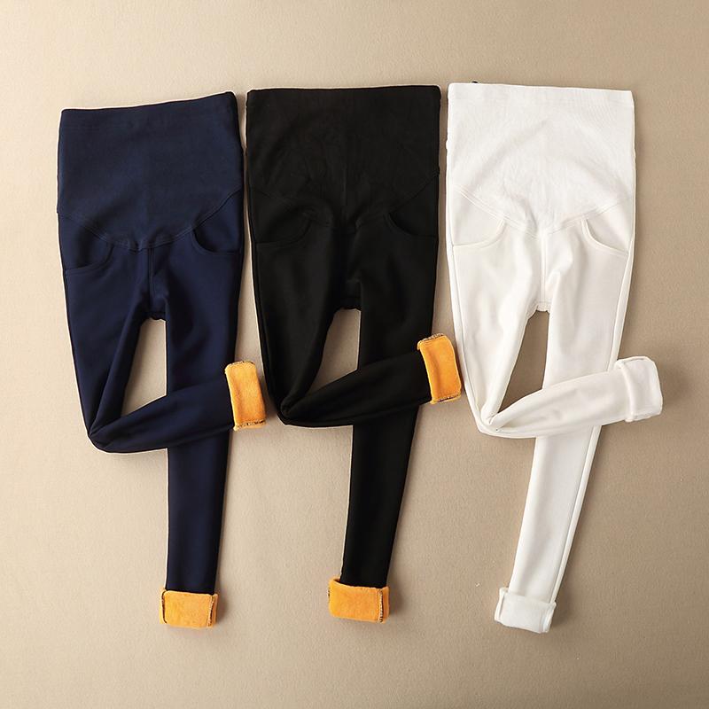 孕妇打底裤秋冬加绒小脚裤外穿孕妇装潮长裤黄金绒孕妇打底裤