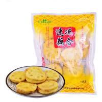 【江�K高�]�^】荷仙 速�錾�藕合(�u肉)300g 共10�� �藕�A肉 油炸休�e小吃