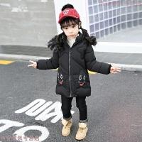 女童棉衣外套冬季2018韩国洋气小童中长款宝宝加厚羽绒棉袄潮