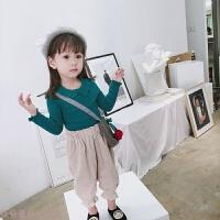 冬季2018新款韩版童装女童宝宝长袖T恤儿童洋气上衣女童打底衫春秋装秋冬新款