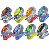 灵动魔幻陀螺2代儿童玩具焰天火龙王梦幻二代拉线男孩全套装 【全套8款】+8引擎+超大盘