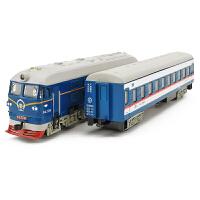儿童玩具车绿皮火车头仿真怀旧东风4B内燃机合金火车模型 1:87