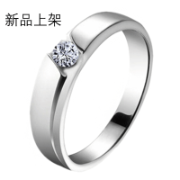 Jpf 简约华丽 925银戒指 男士戒指 男款单戒韩版银饰品 送男友生日礼物 请在订单备注戒指尺寸