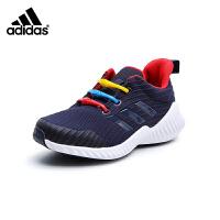 阿迪达斯adidas童鞋18秋季新款儿童运动鞋炫彩扣饰跑步鞋织布透气男童休闲鞋 (5-10岁可选) B27852
